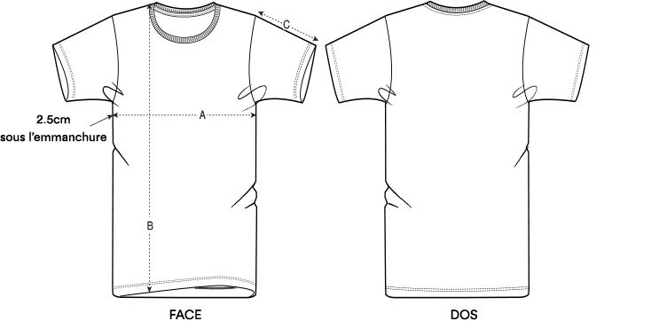 Guide taille t shirt