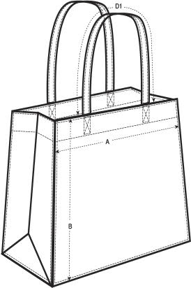 Guide taille shopping bag
